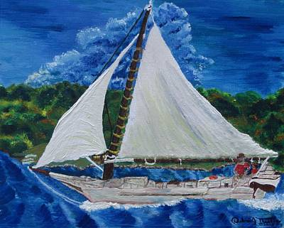 Painting - Skipjack Nathan Of Dorchester by Debbie Nester