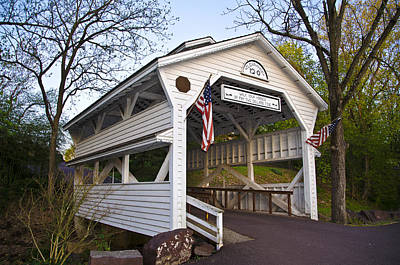 Covered Bridge Photograph - Skippack Covered Bridge by Bill Cannon