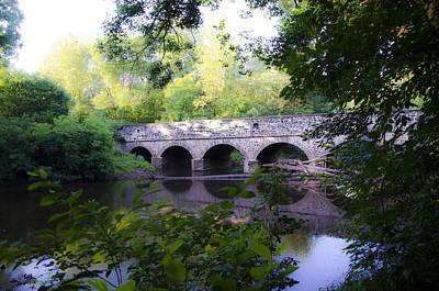 Germantown Photograph - Skippack Creek Bridge by Bill Cannon