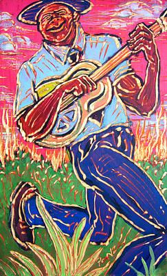 Painting - Skippin' Blues by Robert Ponzio