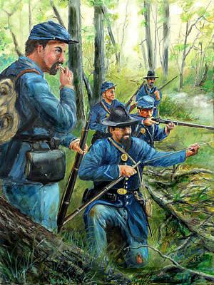 Skirmish 1862 Original by C Keith Jones