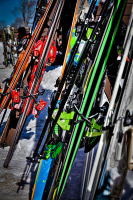 Photograph - Skis At Mccauley Mountain by David Patterson