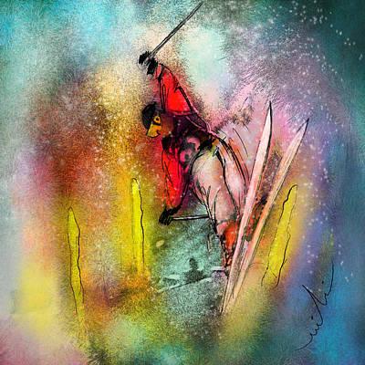 Skiscape 02 Art Print by Miki De Goodaboom