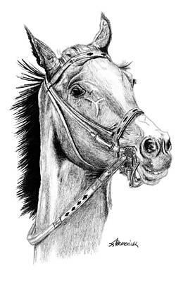 Rain Drawing - Skittish Race by Kayleigh Semeniuk