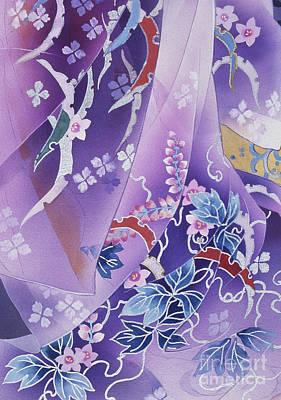 Skiyu Purple Robe Crop Art Print by Haruyo Morita