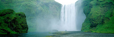 Noise Photograph - Skogafoss Falls, Skogar River, Iceland by Panoramic Images