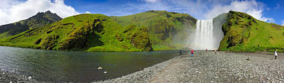 Landscapes Wall Art - Photograph - Skogafoss Waterfall Iceland Panorama by Matthias Hauser