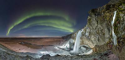 Photograph - Skogarfoss Waterfall by Sigurdur William Brynjarsson