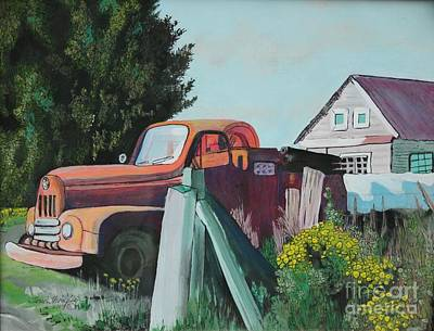 Painting - Skokomish Valley Firetruck  by Terri Thompson