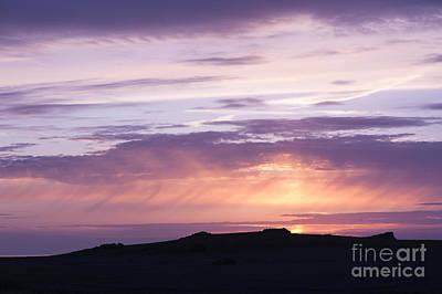 Skomer Sunset Art Print by Anne Gilbert