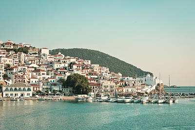 Skopelos Photograph - Skopelos Harbour by Tom Gowanlock
