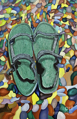 Painting - Skopelos Sandals by James Lavott