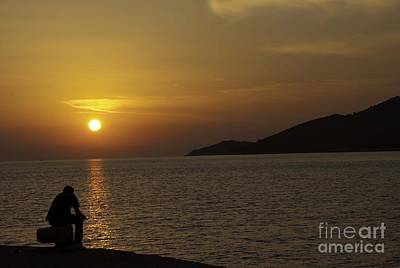 Photograph - Skopelos Sunset - The Thinker - 2 by James Lavott