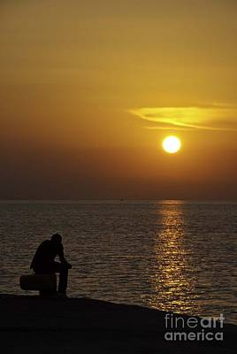 Photograph - Skopelos Sunset - The Thinker 1 by James Lavott