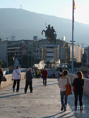Photograph - Skopje City Centre by Phil Banks