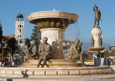Photograph - Skopje Sculptures by Phil Banks