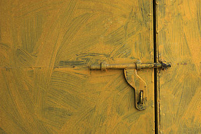 Skc 0047 The Door Latch Art Print by Sunil Kapadia