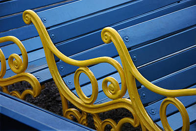 Skc 0246 The Garden Benches Art Print by Sunil Kapadia