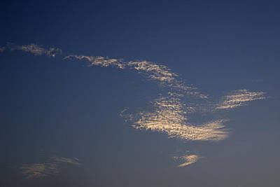 Skc 0353 Cloud In Flight Art Print by Sunil Kapadia