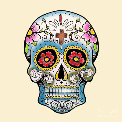 Gypsy Painting - Skull 10 by Mark Ashkenazi