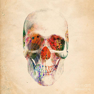 Human Being Digital Art - Skull 12 by Mark Ashkenazi