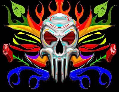 Skull Abstract Art Print by Arpit Handa