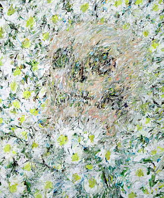 Painting - Skull Among Daisies by Fabrizio Cassetta