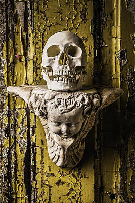 Chipping Paint Photograph - Skull And Angel by Garry Gay