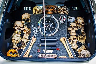 Skull Photograph - Skull And Bones - Pt Cruiser by Jill Reger