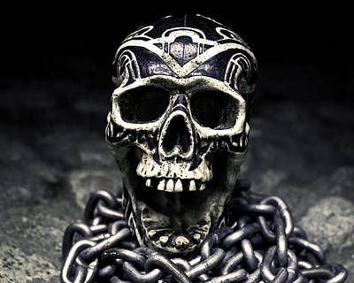 Photograph - Skull And Chains by Rollie Robles