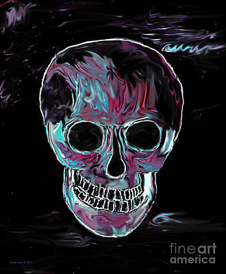 Painting - Skull by Annie Zeno