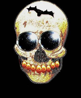 Dali Mixed Media - Skull Art In A Surrealism Definition by Pepita Selles