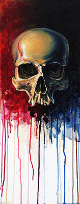 Skull Painting - Skull by David Kraig
