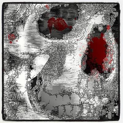 Fractal Wall Art - Photograph - #skull #fractal #freeformthought #art by King Da Ling