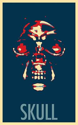 Surrealism Royalty Free Images - SKULL in HOPE Royalty-Free Image by Rob Hans