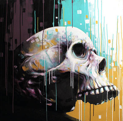 Drips Painting - Skull by Jeremy Scott