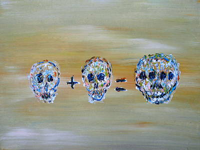 Painting - Skull Mathematics by Fabrizio Cassetta