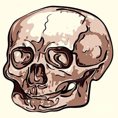Creepy Digital Art - Skull by Michal Boubin