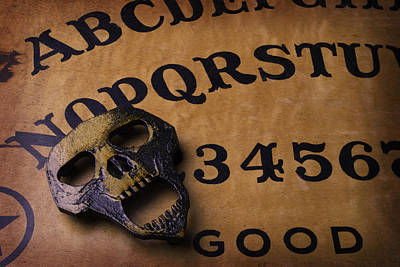 Message Art Photograph - Skull Planchette by Garry Gay