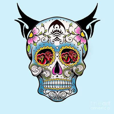 Skull Pop Art  Art Print by Mark Ashkenazi