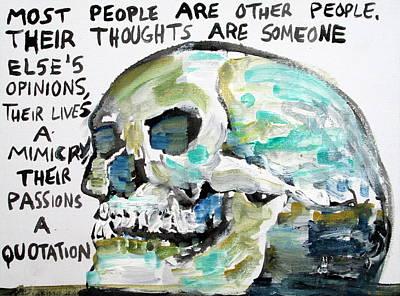 Skull Quoting Oscar Wilde.10 Art Print by Fabrizio Cassetta