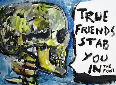 Skull Quoting Oscar Wilde.2 Art Print by Fabrizio Cassetta