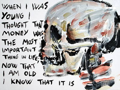 Skull Quoting Oscar Wilde.3 Art Print by Fabrizio Cassetta