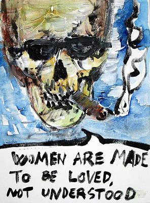 Skull Quoting Oscar Wilde.6 Art Print by Fabrizio Cassetta