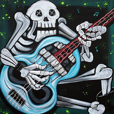 Rocker Painting - Skull Rock by Laura Barbosa