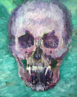 Painting - Skull Vampire Oil Portrait by Fabrizio Cassetta