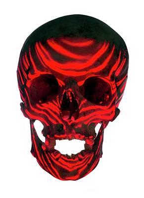 Skull Warning Art Print