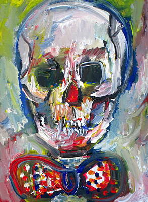 Painting - Skull With Bow Tie by Fabrizio Cassetta
