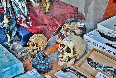 Skulls And Dragons.  I Love Brugge.  Original by Andy Za
