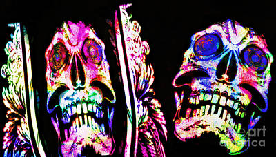 Typographic World - Skulls by Ian Gledhill